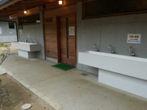 清水公園アスレチックの水洗い場