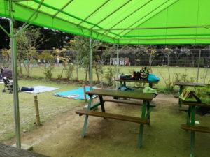 清水公園アスレチックの休憩スペース
