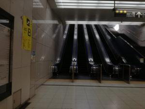 東京テレポート駅のエスカレーター