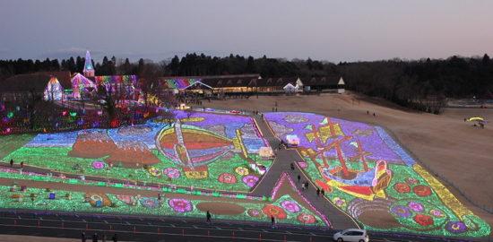 東京ドイツ村のイルミネーション2016~2017は音と光と富士山と!