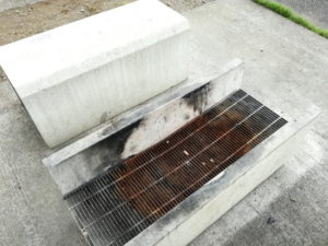 梓川ふるさと公園の屋外BBQ場
