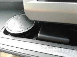 アマゾンエコードットを車に配置