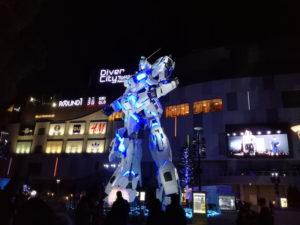 ダイバーシティ東京プラザ(お台場)のユニコーンガンダムの変形