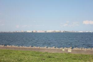 若洲海浜公園のサイクリングコース