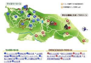 アルプス公園の園内マップ