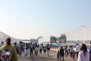 外環道工事区間マラソン大会