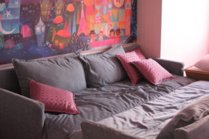 ディズニーセレブレーションホテルウィッシュの部屋のソファベッド