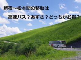 新宿と松本間の移動は高速バス?あずさ?どっちがお得か?バスタ新宿も紹介!
