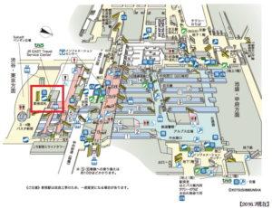 JR新宿駅の新南改札の場所