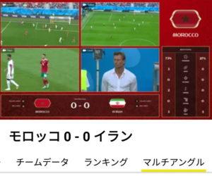NHK2018FIFAワールドカップの4分割カメラ