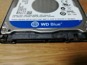 ウェスタンデジタルの内臓ハードディスク