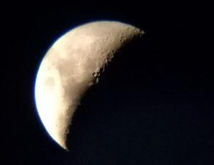 コルキットスピカでコメリート撮影した月