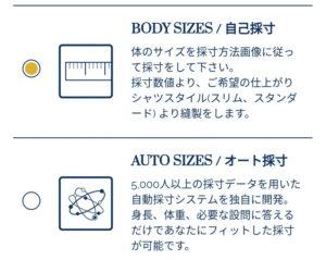オーダーシャツKEIの採寸方法