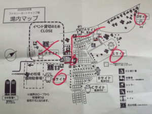 成田ゆめ牧場ファミリーオートキャンプ場のサイトの場所