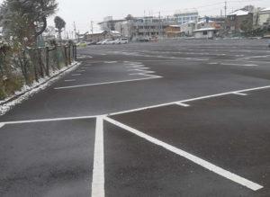 中山競馬場の若宮駐車場の15時の様子