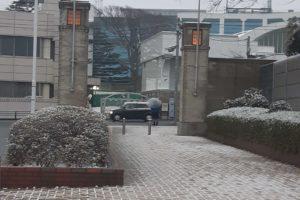 中山競馬場の積雪