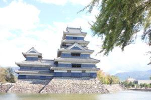 松本城で七五三の写真撮影