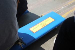 鴨川シーワールドのシャチショーの座席の注意書き