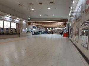 東京テレポート駅の改札口