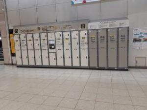 東京テレポート駅の改札口左側のコインロッカー2