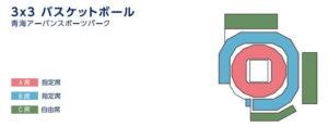 東京オリンピックの3×3バスケットシートマップ