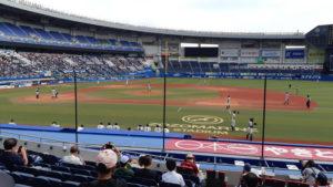 ゾゾマリンスタジアムの一塁側の座席