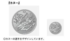 東京オリンピックの百円記念硬貨のデザイン