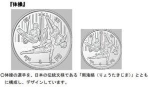 東京オリンピックの千円記念硬貨のデザイン