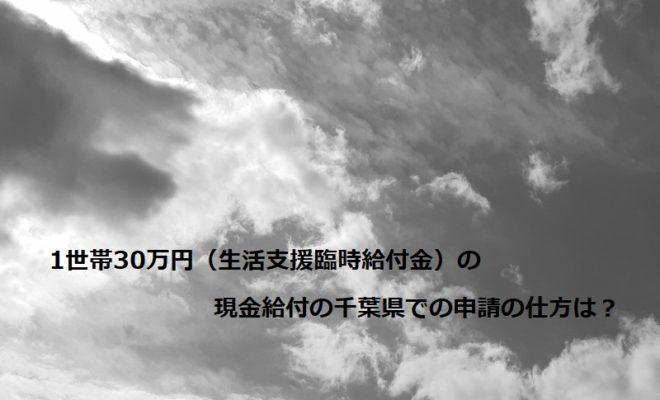 1世帯30万円(生活支援臨時給付金)の現金給付の千葉県での申請の仕方は?